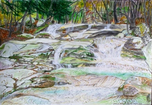 "Old Jellymill Falls, Dummerston, Vermont, November 2005, 22""X15"""